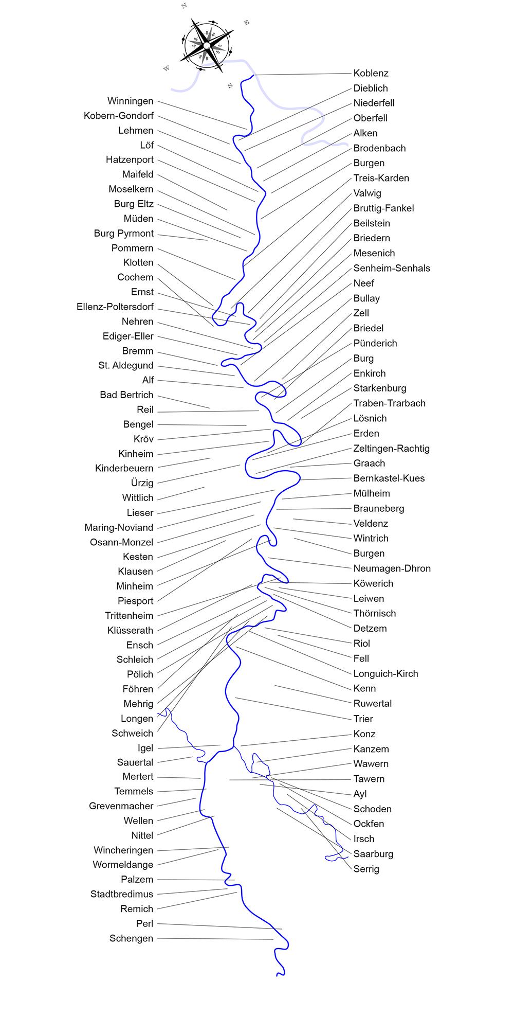 Mosel Karte Mit Allen Orten.Moselorte Karte Onlinebieb